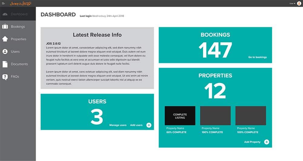 JOS Admin Portal UI