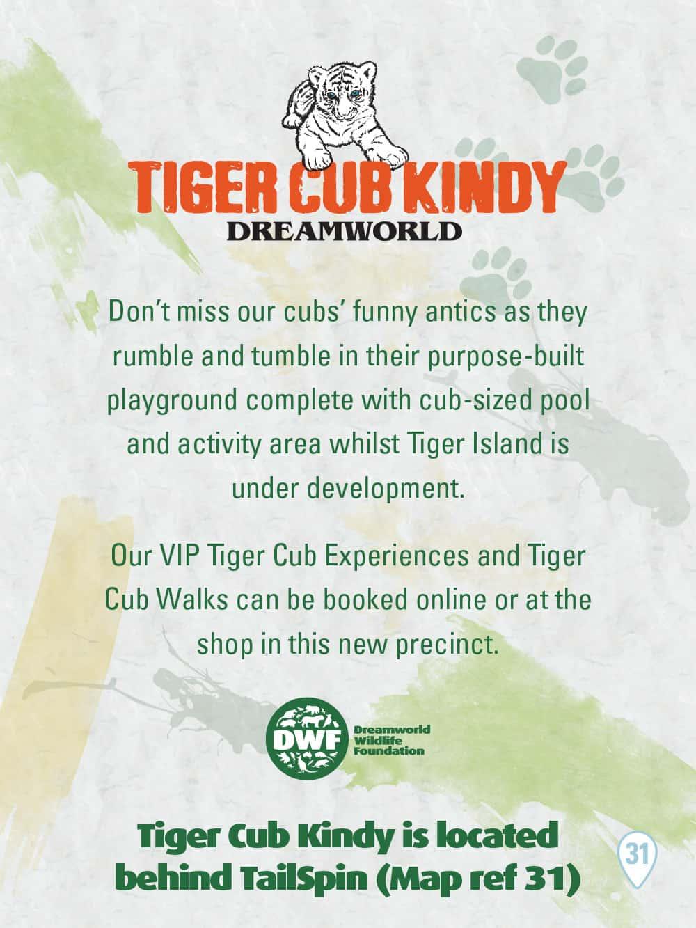 Tiger Cub Kindy Sign