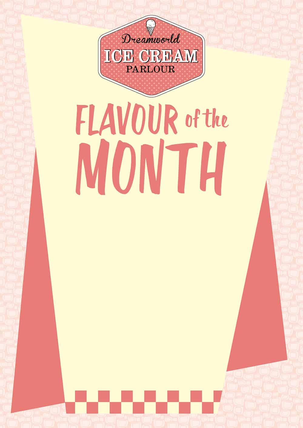 Flavour of the Month Sign